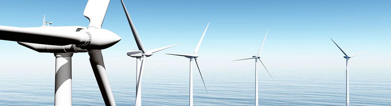 Windfarm at sea