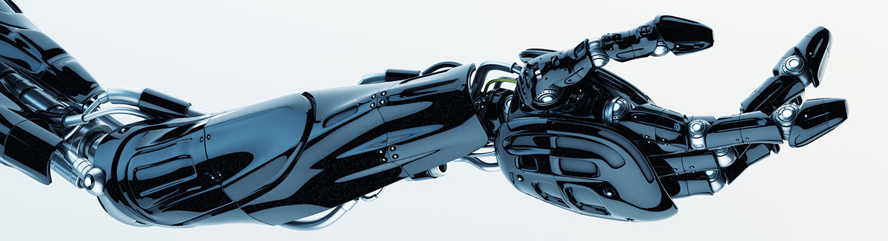 black prosthetic arm